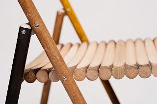 Silla con Palos de Madera Reciclados, Muebles Originales y Ecoresponsables