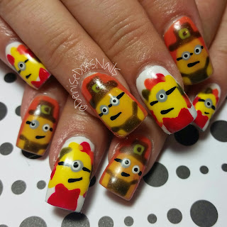 thanksgiving minion nails