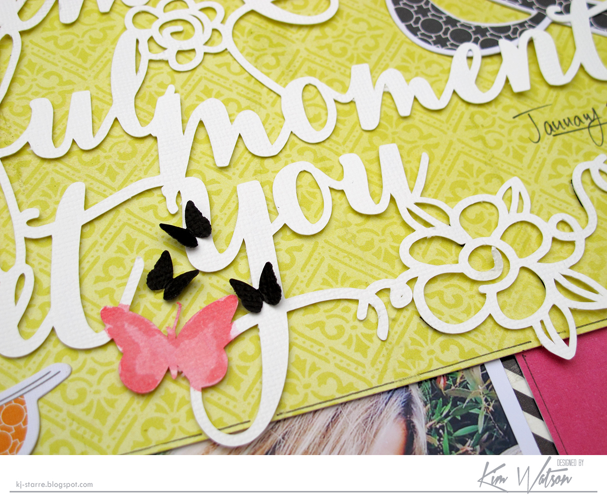 Beautiful Moments Scrapbook Page by Kim Watson Guest Designer for 17turtles Digital Cut Filesa