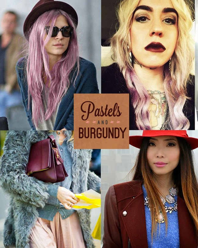 Spring Fashion Trends - Pastels and Burgundy
