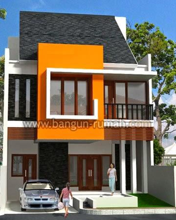 Contoh gambar Desain Rumah Minimalis 2 Lantai