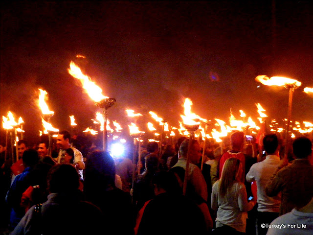 Torchlight Procession In Fethiye, Republic Day