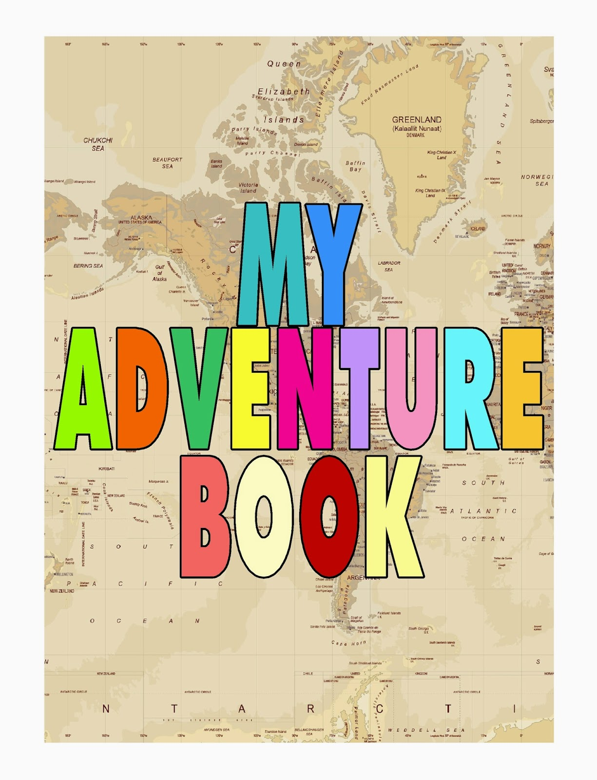 My Adventure Book DIY Printable for an Up Party