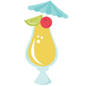 Tropical Drink cut file by Miss Kate Cuttables
