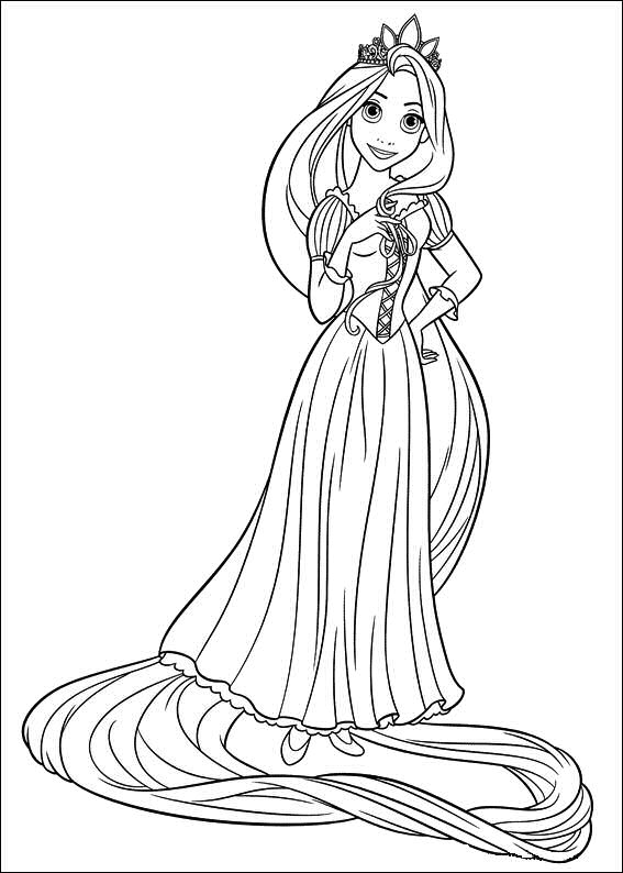 Beauty Nails Rapunzel Tangled Coloring Pages Download