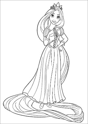 disney tangled rapunzel coloring princess