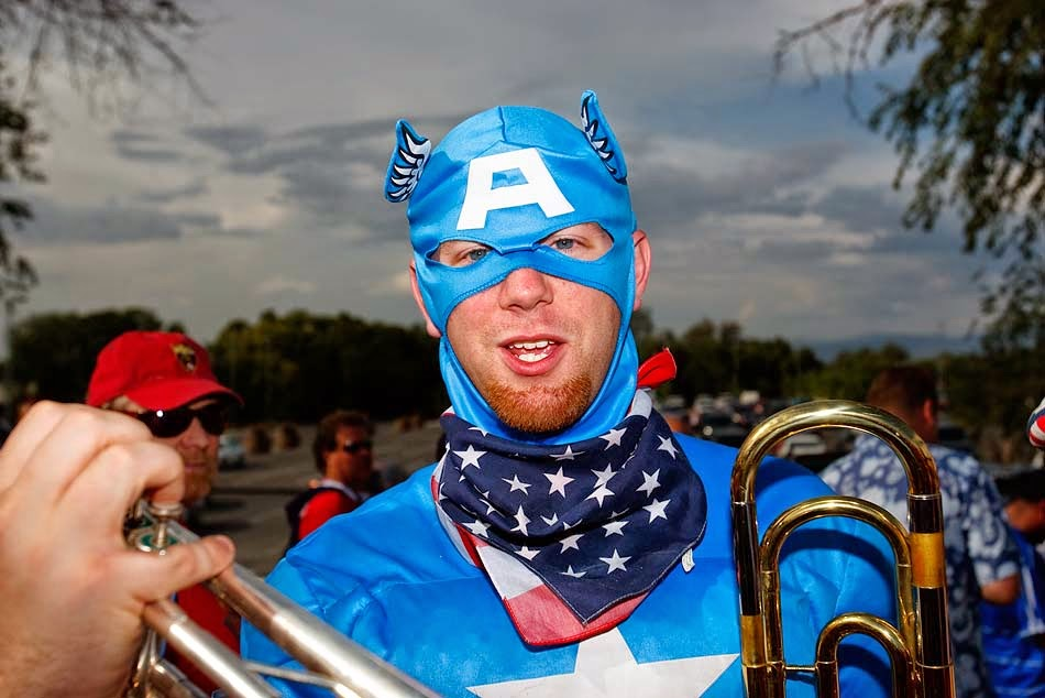 Captain America USA fan