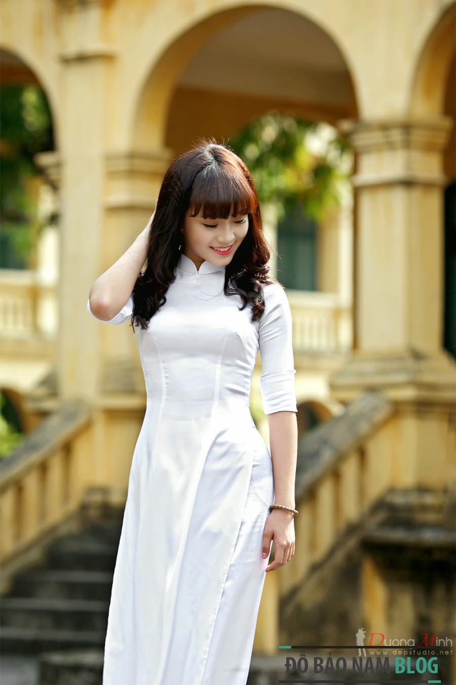 Hình ảnh girl xinh áo dài truyền thống