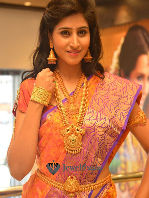 Shamili Sounderajan showcased CMR Jewels antique gold jewellery in an ...