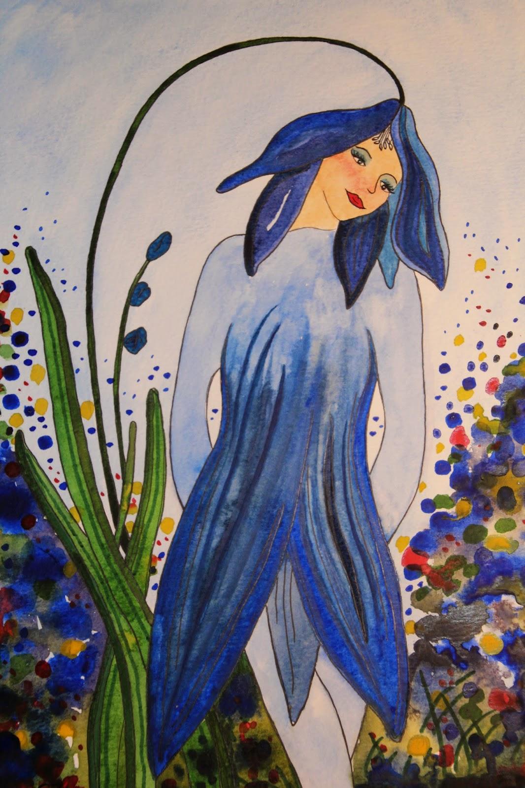 scilla blåstjärna illustration carolin zander