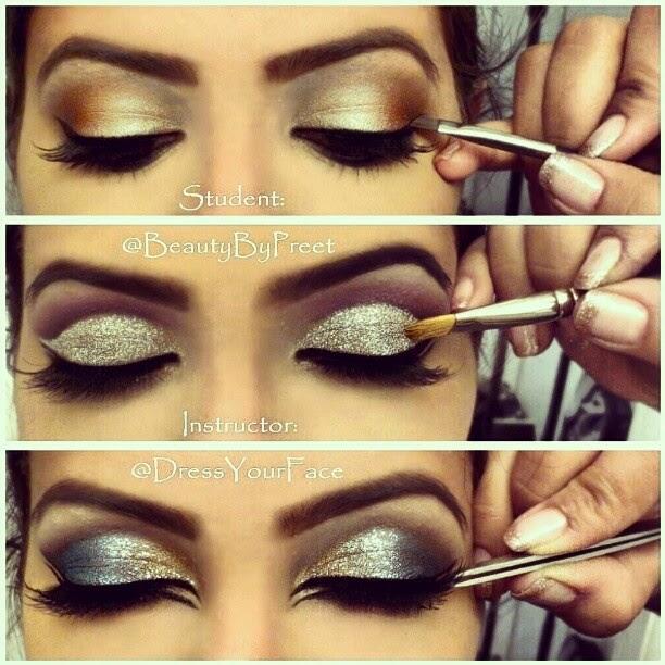 Silver Glitter Glamorous Eyeshadow Makeup Tutorial B G Fashion