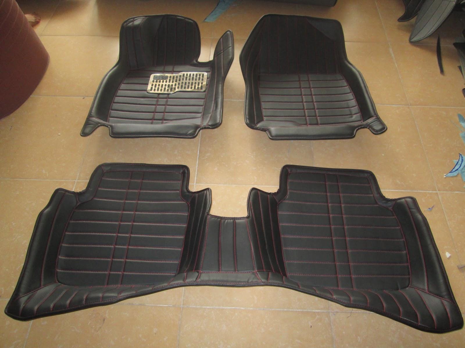 thảm lót sàn xe xe hơi 4d màu đen thamlotxe.com