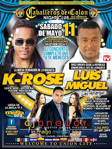 K-Rose y Luis Miguel del amargue@Caballeros de Coln, Night Club, Union City, USA