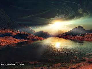 bela paisagem 3d