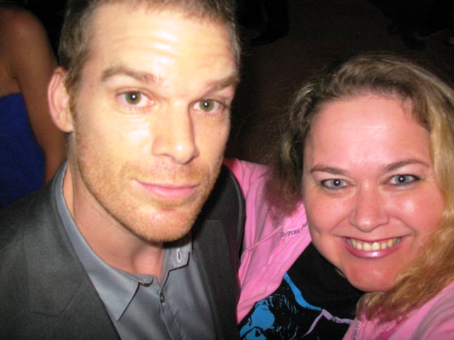 Thinking pink pinkys fandance redux michael c hall i loved him so much on six feet under i was stoked to meet him m4hsunfo