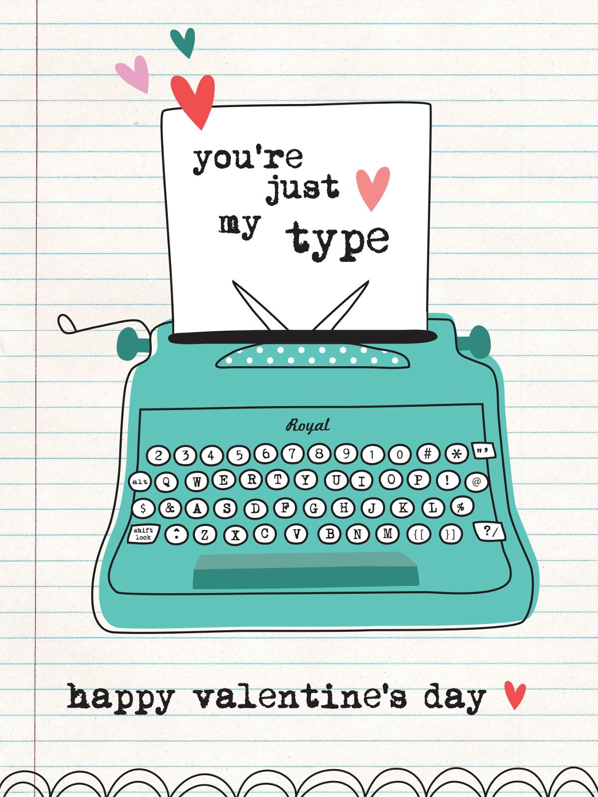 nina seven FREE Printable Valentines Day card
