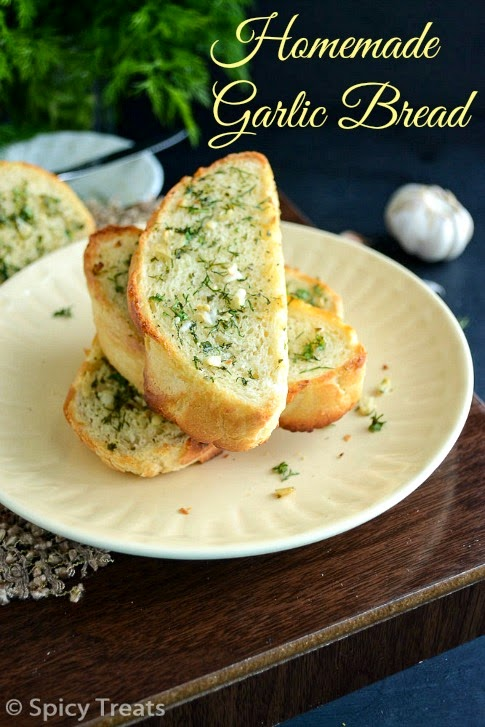garlic bread from scratch / homemade garlic bread recipe