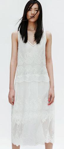vestidos largos Zara 2012