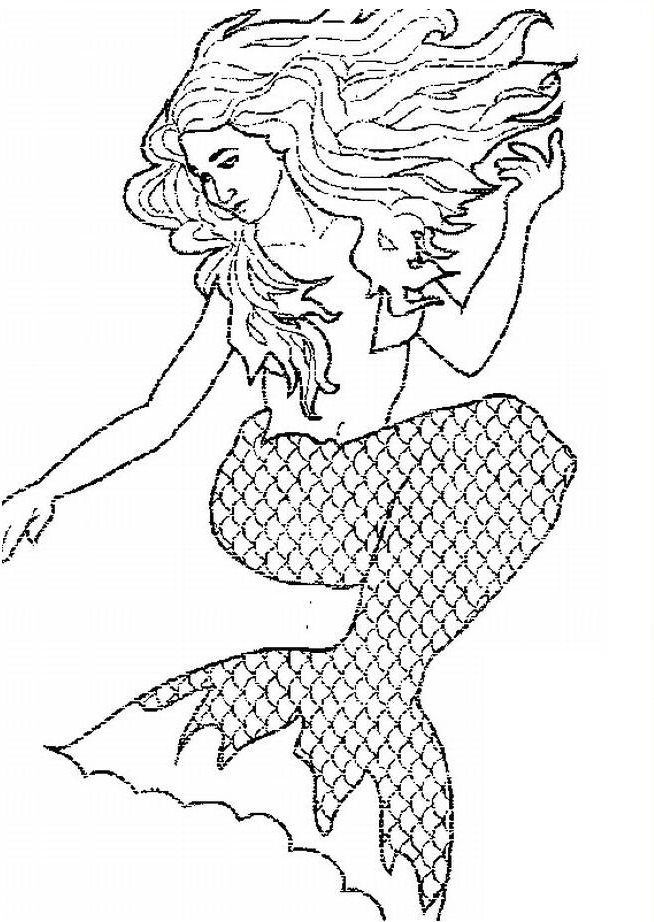 Coloring Pages Mermaids H2o Coloriage