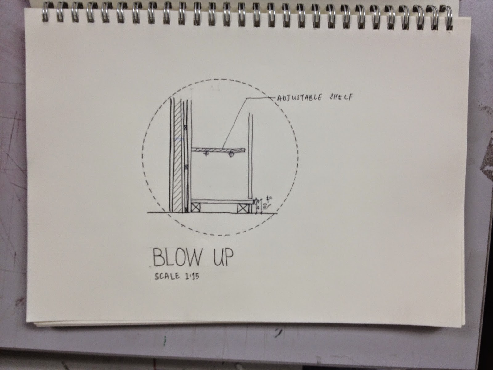 Built In Furniture Detail Drawing