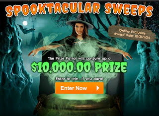 Second Spooktacular Sweeps at PCH screen featuring a witch