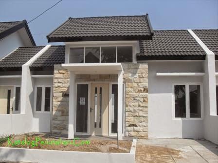 Contoh rumah dalam cluster Mandiri Residence