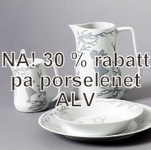 30% avslag p Wik og Walse sitt designporselen Alv.