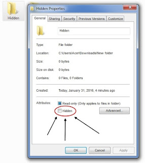Cara menyembunyikan (Hidden) folder dan mengembalikannya