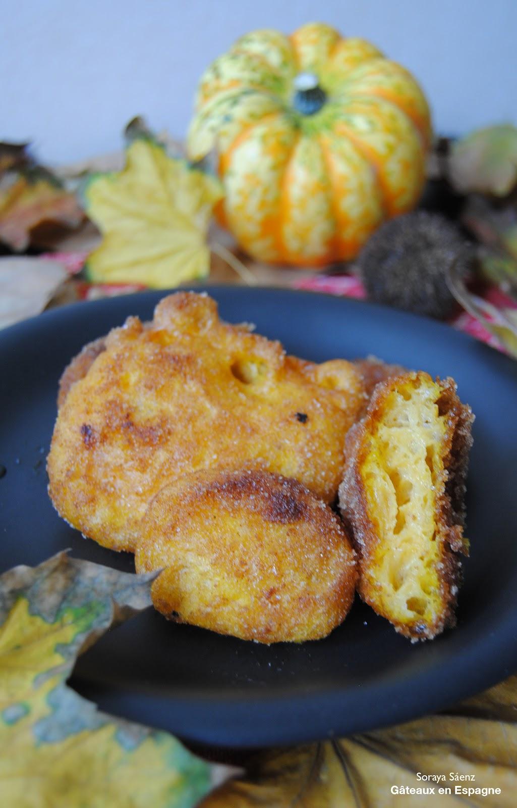 G teaux en espagne beignets de citrouille un dessert espagnol pour f ter la toussaint - Gateau a la citrouille facile ...