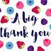 LIFESTYLE | A Big BIG Thank You