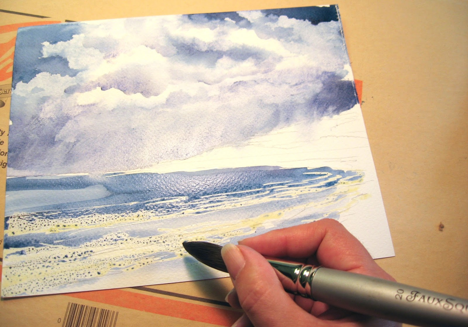 Dynasty blog painting tutorial watercolor painting with for Painting on water tutorial