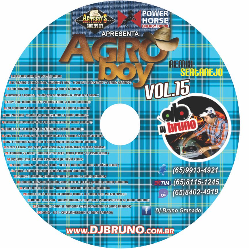 Dj Bruno Granado - Agro Boy 15 - Sertanejo Remix 2013 (2013)
