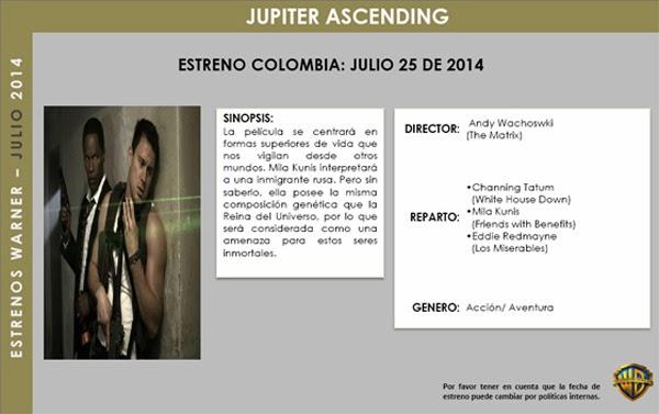 ESTRENOS-WARNER-BROS -2014