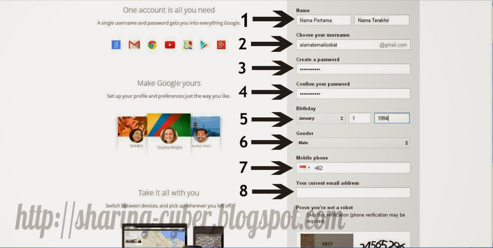 Cara Membuat Email di Gmail Terbaru 2014