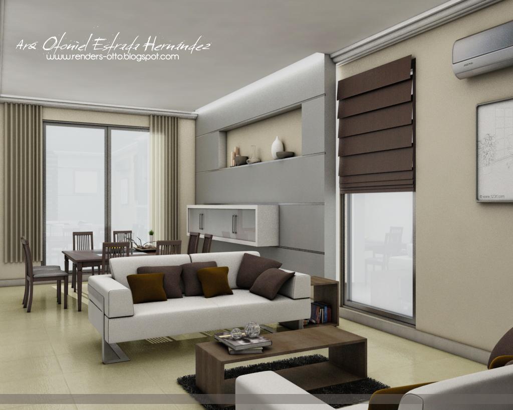 Renders sala comedor for Diseno de modulares para comedor