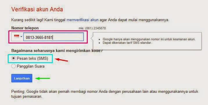 Verifikasi Email Baru Gmail