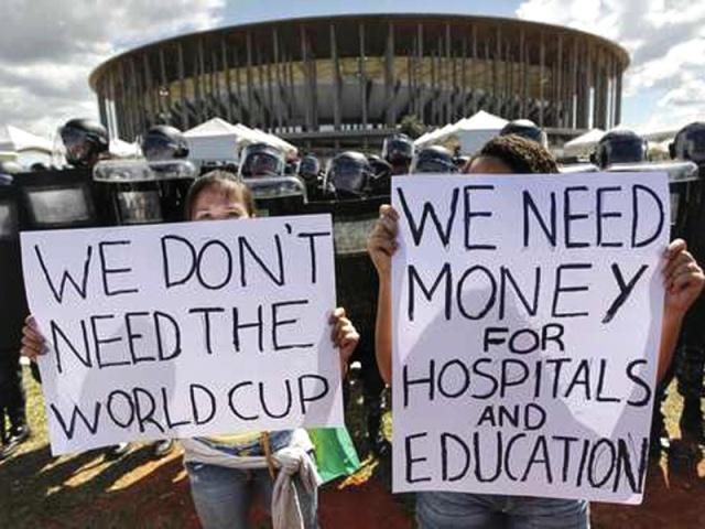 Protestas por el Mundial en Brasil