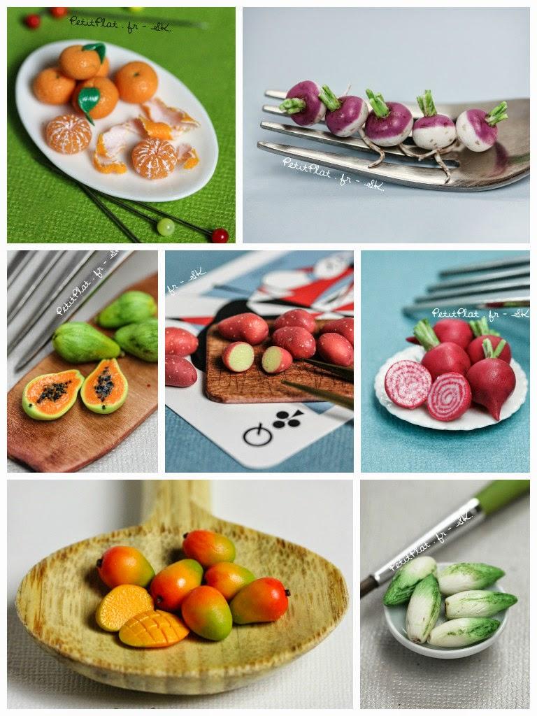 Miniature Food Art, Veggies and Fruit by Stephanie Kilgast