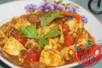 Resepi Sotong Masak Merah Tomato