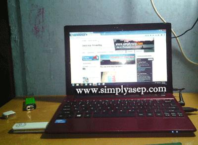 Laptop pribadi milik Asep Haryono