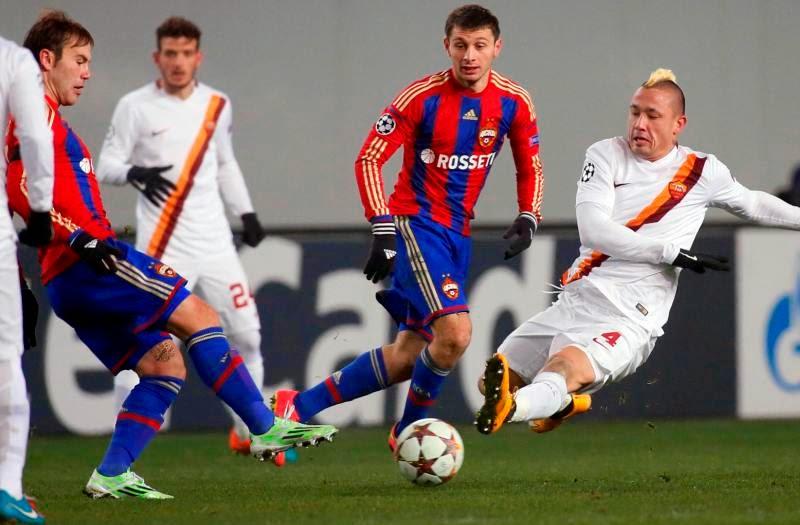 AS Roma Berbagi Angka di Markas CSKA 1-1