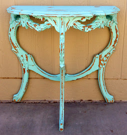 Aqua Side Table (SOLD)
