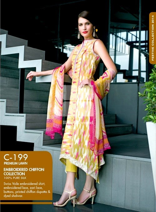 Gul Ahmed – La Chiffon Collection 2014