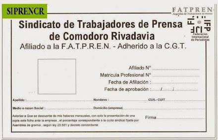 FICHA DE AFIALICION