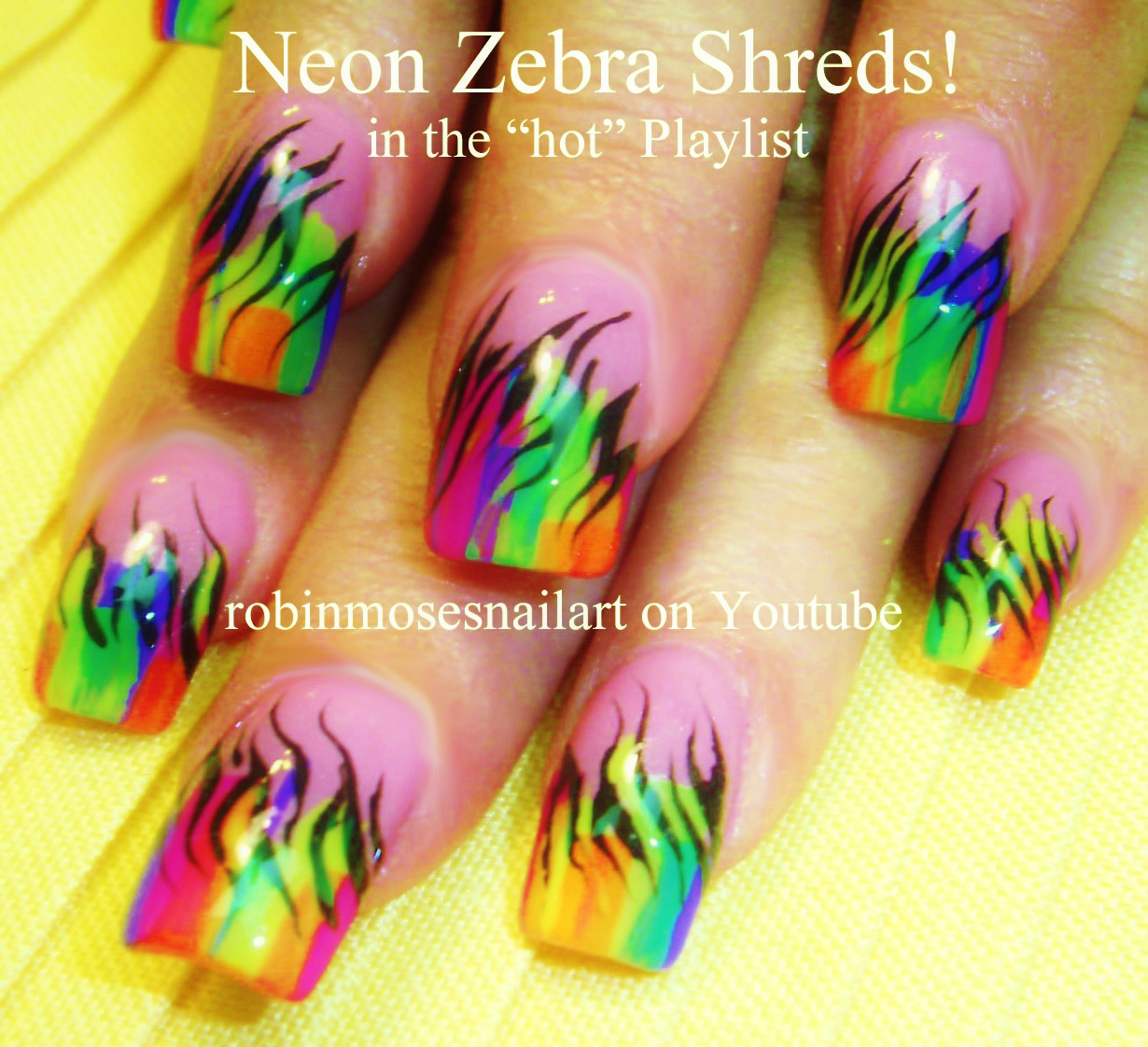 Neon Nail Art Designs