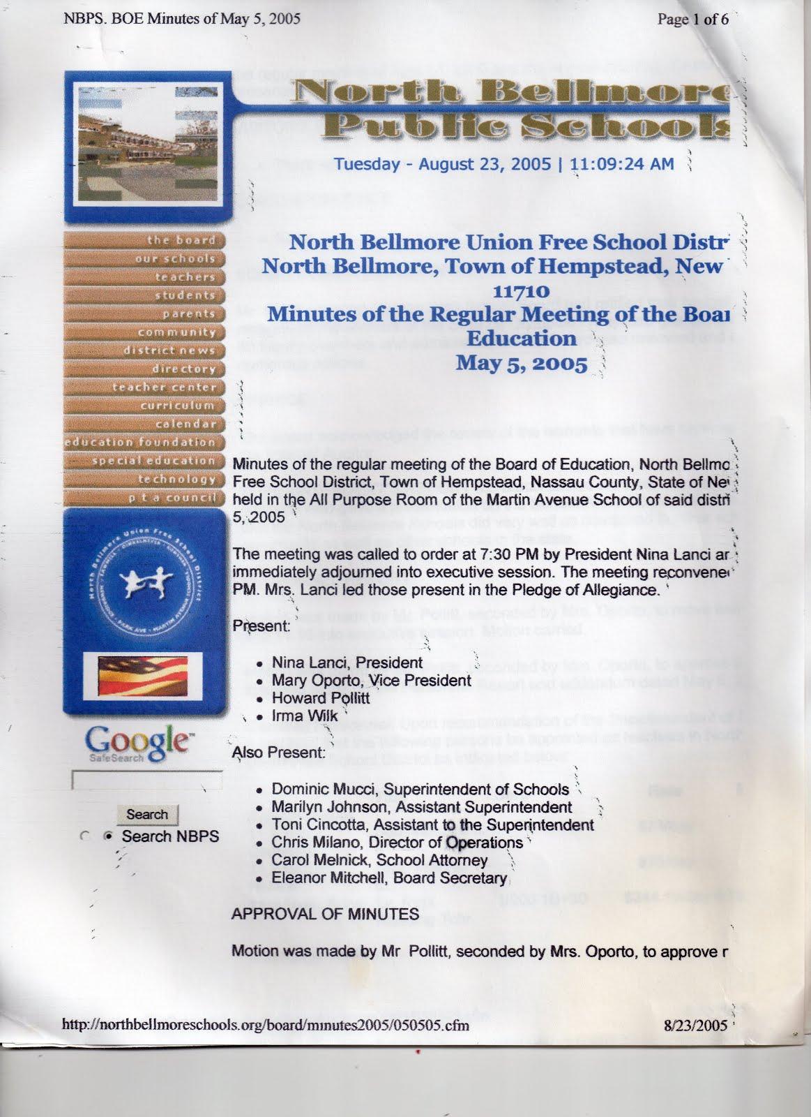 May 5, 2005 Board Meeting p1