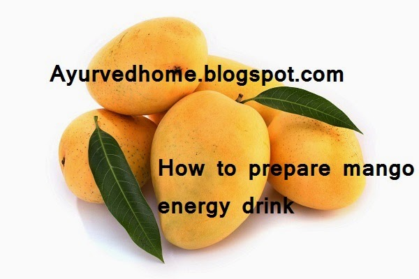 how to prepare mango energy drink
