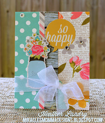 Sheer Ribbon Bow_Floral Card_Feminine