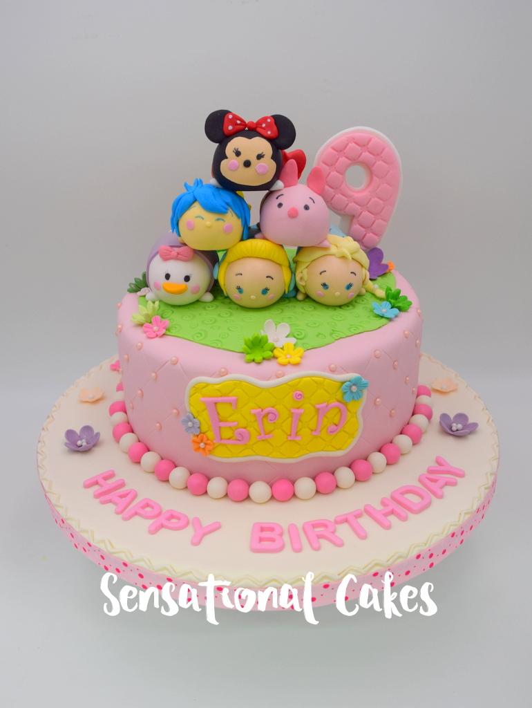 The Sensational Cakes: Tsum Tsum Character Girl Birthday Theme 3D ...