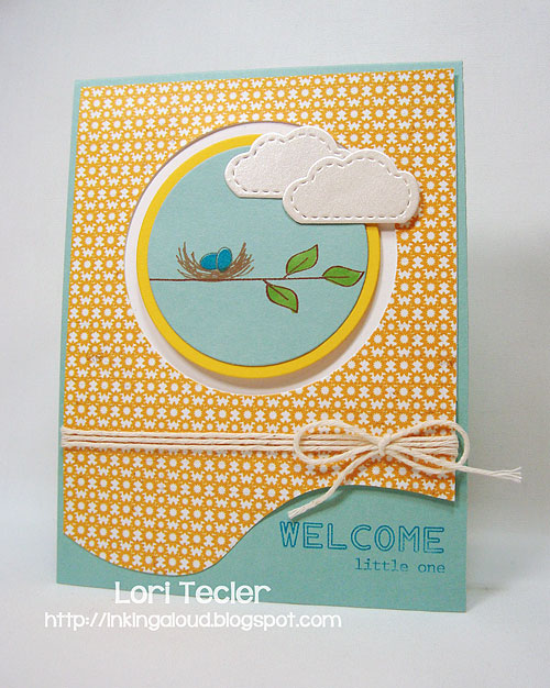 Welcome Little One-designed by Lori Tecler-Inking Aloud-stamps and dies from Clear and Simple Stamps